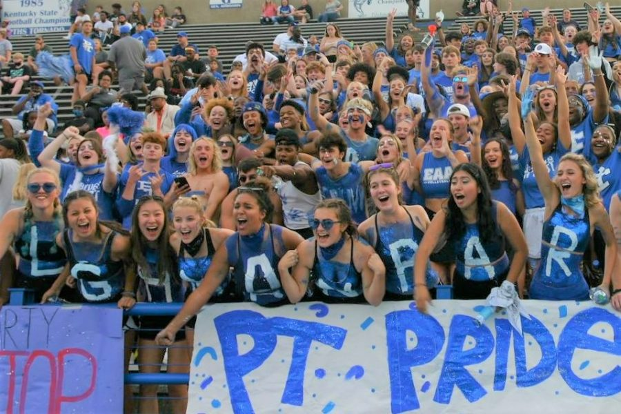 Students celebrate their Tilghman pride at the Mayfield game.