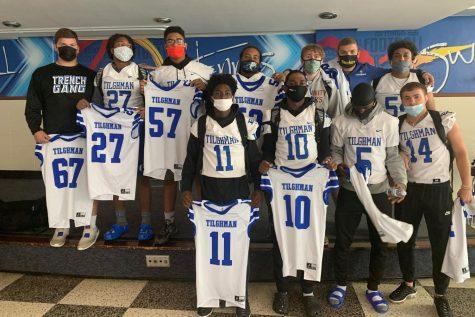 SLIDESHOW: Senior Football Players Give Jerseys to Teachers, Staff